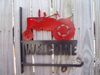 Farmall welcome flag holder red black