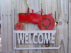 Farmall welcome flag holder red silver